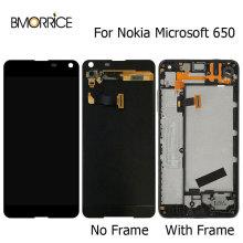 Original LCD Display For Nokia Microsoft Lumia 650 Touch Screen Digitizer With Frame Full Assembly Replacement Black 5.0 Inch free shipping for microsoft lumia 550 lcd display touch panel screen glass assembly with frame replacement parts