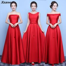 цена на 2018 New Sexy Autumn Satin Strapless Dress Lace Up Wedding Party Dress Red Prom Evening Gowns Long Maxi Dress vestidos pajamas