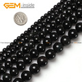 Natural Round Black Obsidian Agate Stone Loose Beads For Jewelry Making 4-20mm 15inches DIY FreeShipping Wholesale Gem-inside