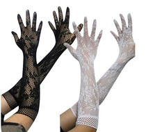 Sexy transparent lace elastic gloves bride Long-sleeve gloves mesh liturgy gloves sexy gloves lace