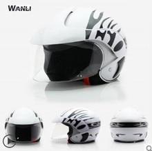 White cartoon boys children motocross open face helmet motorcycle kids girl helmets motorbike childs MOTO safety headpiece
