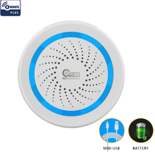 NEO z wave Plus Sensor de alarma de sirena, inalámbrico, para automatización del hogar con batería, también se puede cargar con USB