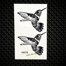 Black Flying Birds Temporary Water Transfer Tattoo Stickers Women Makeup Body Arm Tatoo Paste GH079 Fake Flash Tattoo Sticker