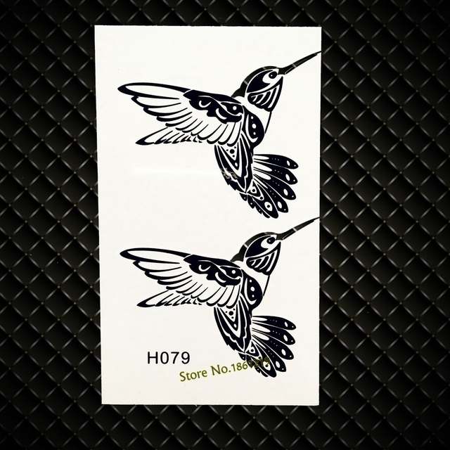 Black Flying Birds Temporary Water Transfer Tattoo Stickers Women Makeup Body Arm Tatoo Paste GH079 Fake Flash Tattoo Sticker