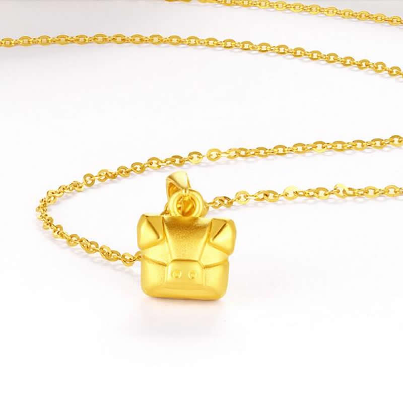 Pure 24K Yellow Gold Product 3D 999 Gold Cool Pig ProductsPure 24K Yellow Gold Product 3D 999 Gold Cool Pig Products