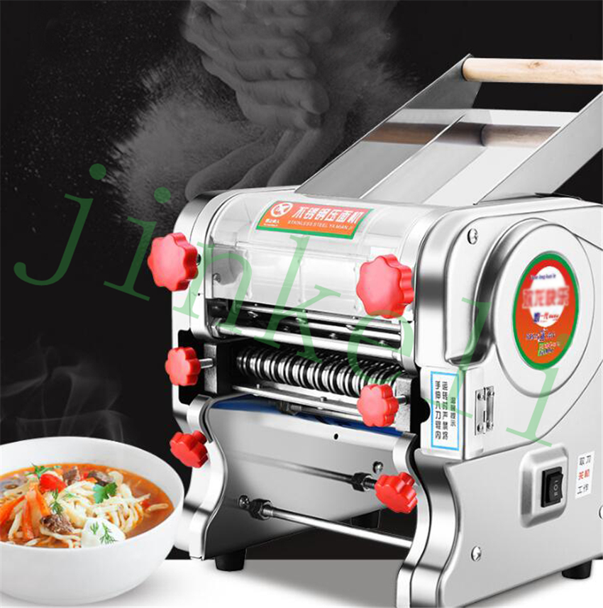 free ship 1.5mm 3mm 9mm Electric noodles making pressing machine Spaghetti Pasta Fettuccine pasta maker noodle cutting machine free shipping electric table type noodles cooking machine with ce pasta cooker