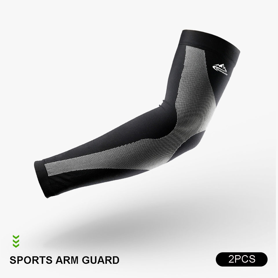 running - 2PCS UV Protect Cycling Arm Sleeve Warmer Bike Bicycle Basketball Running Arm Sleeves Men Women Sports Arm Warmers Cover