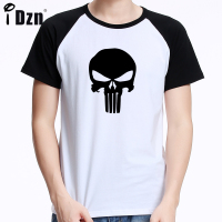 Streetwear Punisher Skull Hip Hop Marvel Supper Hero T Shirt Harajuku Men Short Sleeve T Shirt