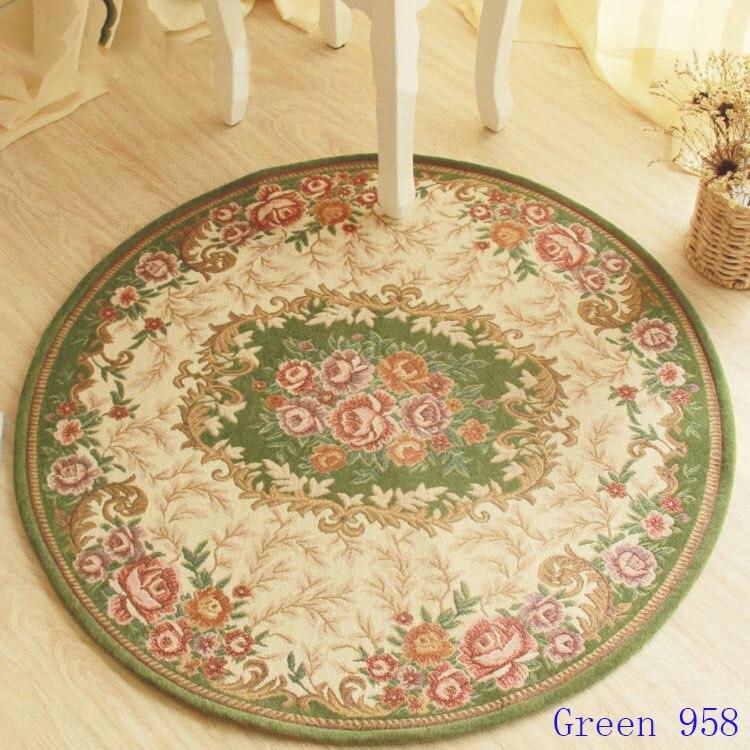 Tapis Jacquard de fleurs de jardin de style européen, tapis de zone, le tapis dans le salon