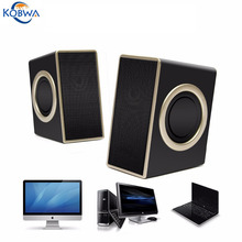 Stereo Sound Loudspeaker Box Subwoofer USB Speakers Super Bass Music Player With 3.5mm Audio Jack For PC Laptops Tablets Phone