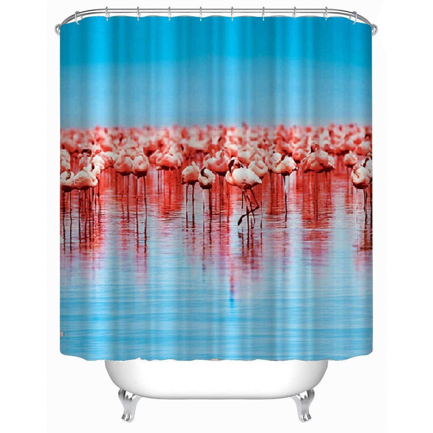 Flamingos Shower Curtain Waterproof Mouldproof Anti Bacteria 72x78 Inch In Curtains From Home Garden On