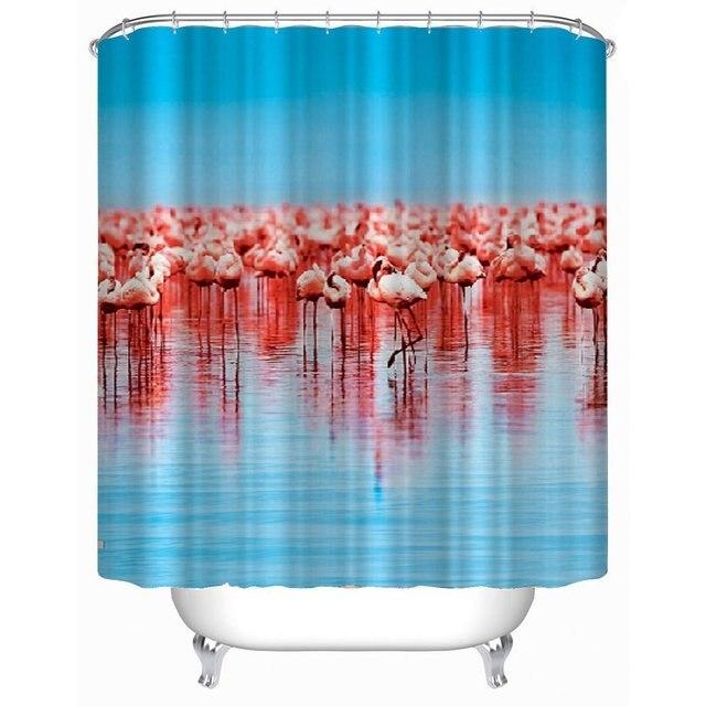 Flamingos Shower Curtain Waterproof/ Mouldproof/anti Bacteria ...