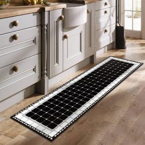 Image 5 - Ethnic Printed Kitchen Mat Set Dirty proof Long Carpet Hallway Doormat Bedside Floor Mat Non slip Water Absorption Bathroom Rugs