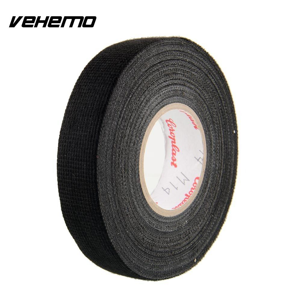 Vehemo 1x Adhesive 19mmx15m Cloth Fabric Tape Cable Looms Wiring Bmw Motorcycle Harness For Car Heat Resistant Styling In Stickers From