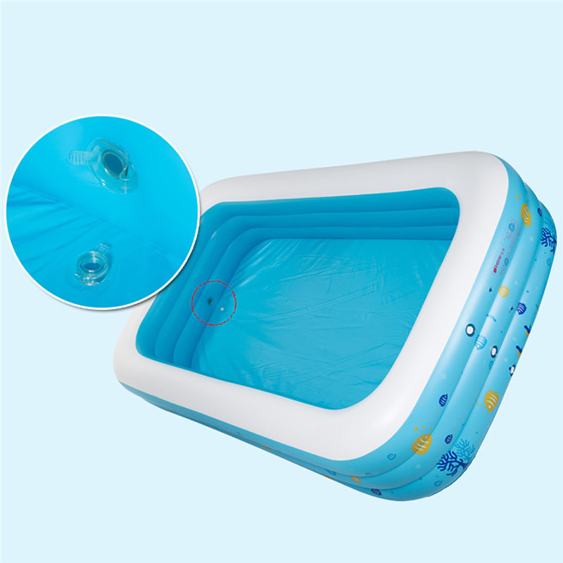 Grande Piscine Gonflable Piscine Center Salon Famille Enfants L'eau Lecture Fun Cour Jouet 130*90*50 cm
