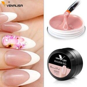Image 5 - VENALISA Gel de construction rose épais pour ongles, gelée, trempage UV LED, couverture et Camouflage, 15ml, nouveauté