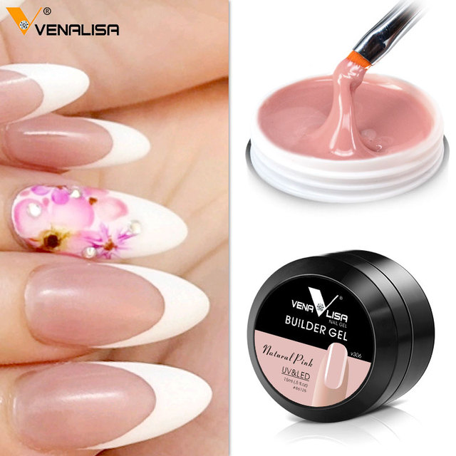Venalisa Extending Nail Gel Canni Camouflage Semi-transparent Colors French Nail  Art Salon Manicure Soak - Venalisa Extending Nail Gel Canni Camouflage Semi Transparent Colors
