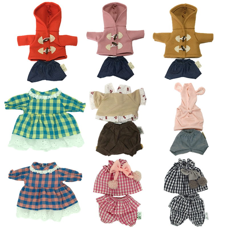 30cm Doll Clothes For Rabbit Cat Bear Plush Toys Coat Sweater Play House Dolls Accessories For 1/6 BJD Dolls Children Gifts