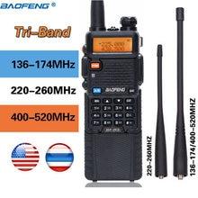 2020 BaoFeng BF R3 Tri band חזיר מכשיר קשר 136 174Mhz 220 260Mhz & 400 520Mhz amatuer כף יד נייד שתי בדרך רדיו uv 5r