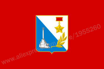 Flag of Sevastopol 3 x 5 FT 90 x 150 cm Russian City Flags Banners image