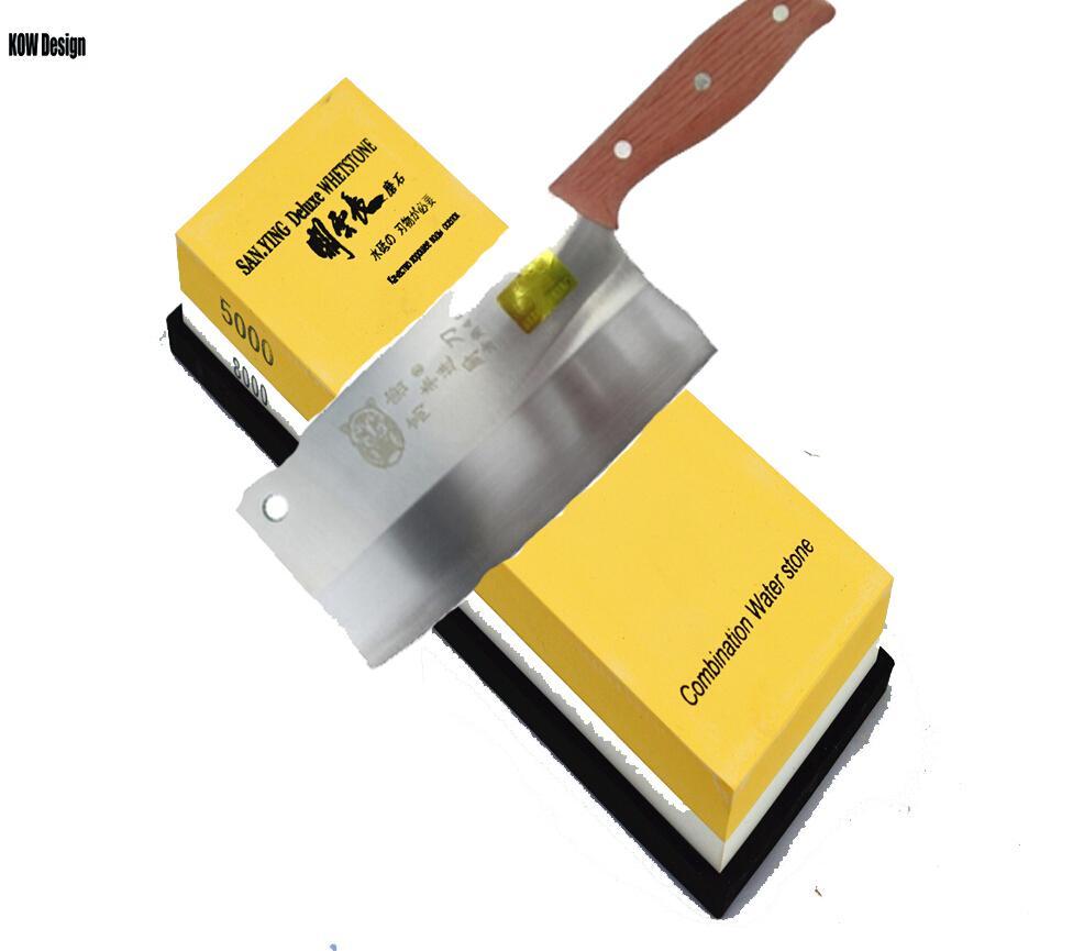 High quality double face 5000 8000 grit water whetstone knife sharpener whetstone 180 60 30mm 680g