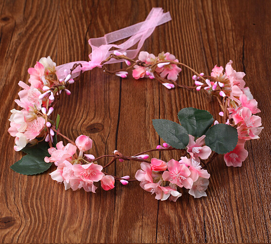 Buy handmade fabric sakura flower crowns for Where to buy wedding accessories