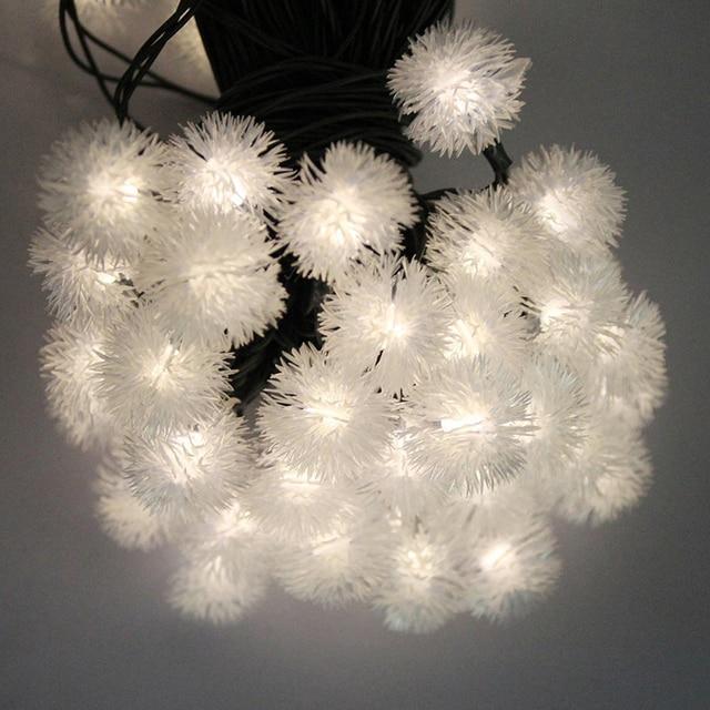 Novelty copos de nieve bola de nieve a prueba de agua solar led hadas luz de la secuencia al aire libre fiesta vacaciones decoración de la boda mariage solaire