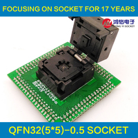 QFN32 MLF32 IC Test Adapter IC550 0324 007 G Programming Socket Pitch 0 5mm Clamshell Chip