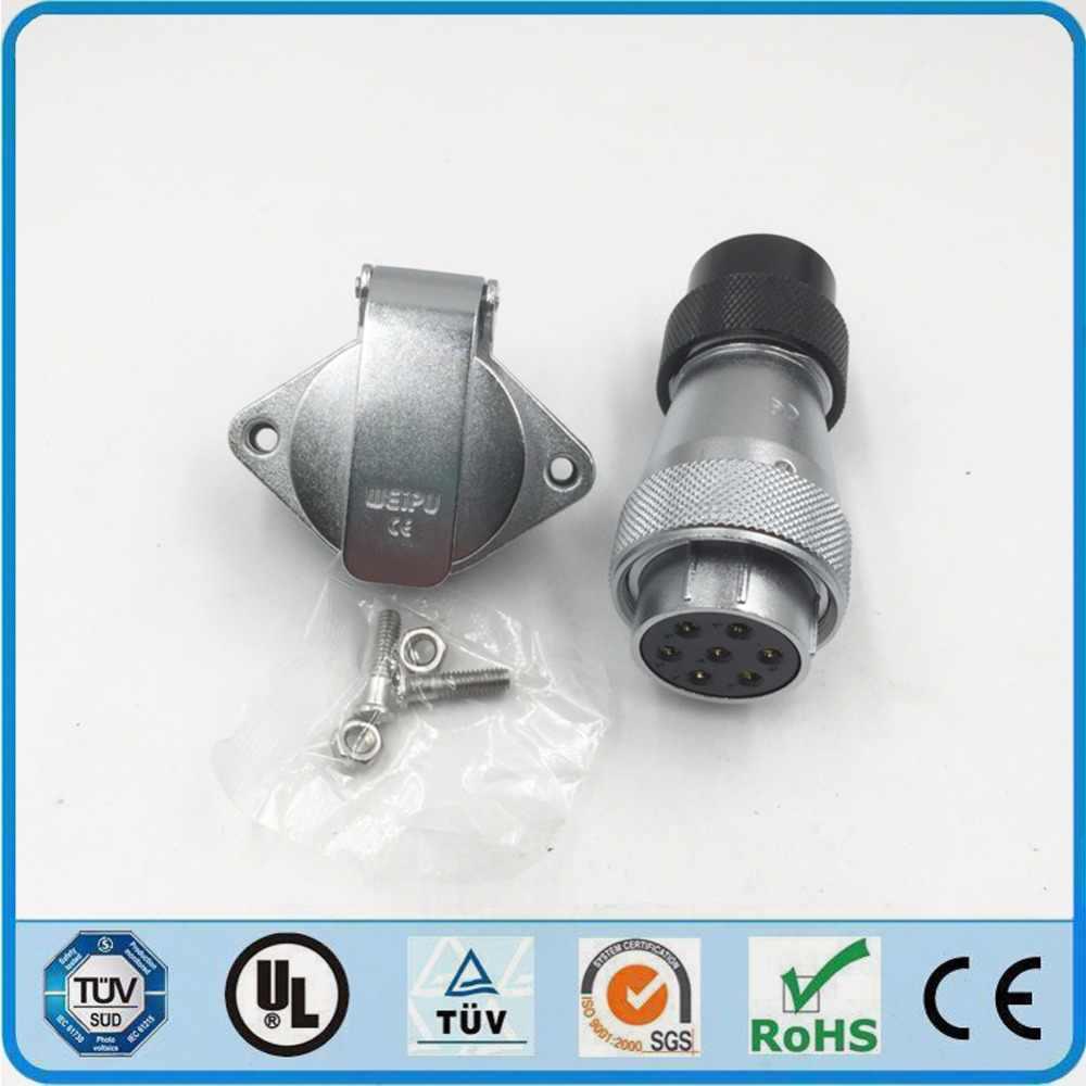Оригинальные Weipu WS28 TD + разъем zg на возраст 2, 3, 4, 7, 10, 12, 16, 17, 20, 24, 26 Pin Пластик шланг кабель для подключения к сети 2 отверстия Фланцевая панель гнездо для крепления