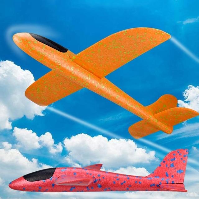 10pcs 48cm Big Hand Throw Foam Planes DIY Kids Toys Flying Glider Aeroplane Model Party Fillers Flying Glider Plane Toys Game
