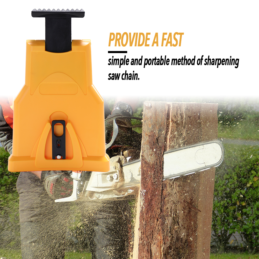 Portable Chain Saw Teeth Sharpener Sharpens Durable Easy Power Sharp Bar-Mount Fast Grinding Chainsaw Chain Sharpener Tool