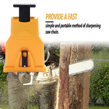 Portable Chain saw Teeth Sharpener Sharpens Durable Easy Power Sharp Bar-Mount Fast Grinding Chainsaw Chain Sharpener Tool(China)