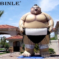 Custom outdoor giant inflatable sumo wrestler characters air balloon for advertising