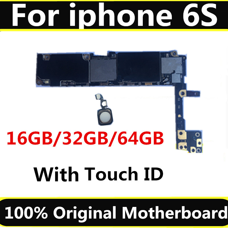 Full unlocked for iphone 6S 6 S Motherboard With Without Touch ID Original for iphone 6S Mainboard with Full Chips 16GB 64G 128G in Mobile Phone Antenna from Cellphones Telecommunications