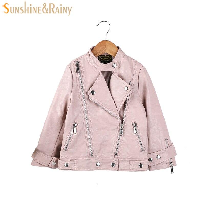 Детская куртка из искусственной кожи Обувь для мальчиков на весну для девочек кожаные пальто Обувь для девочек осенняя куртка одежда детск...