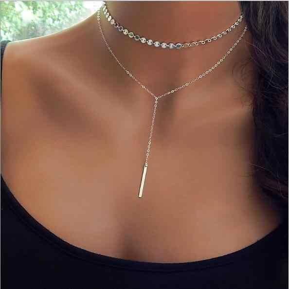 Seblasy панк Multi Слои большой треугольники египетского Аватар листья кристалл заявление ожерелья подвески для Для женщин Boho вечерние украшения