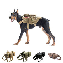 New Military Tactical Dog Harness K9 Working Vest Nylon Lead Training Running for Medium Large Dogs German Shepherd