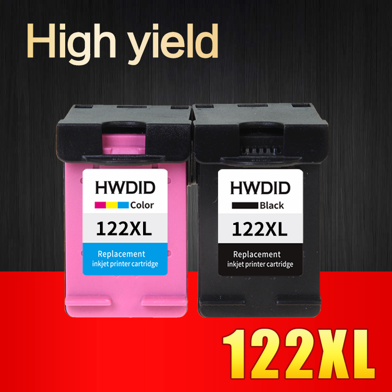 2pcs Ink Cartridge Compatible for HP 122 XL for HP Deskjet 1000 1050 2000 2050 2050s 3000 3050A 3052A 3054 1010 1510 2540