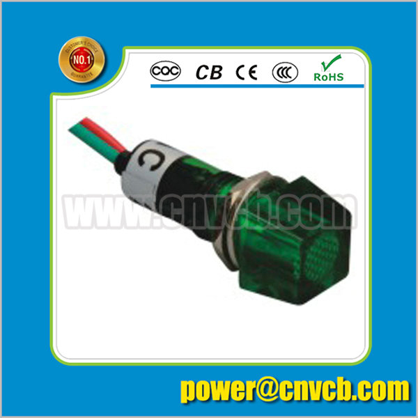 ZS75 square wired indicator light 10mm green indicator lamp 230v with terminal 10mm pilot light
