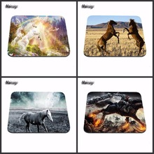 Wholesale Horses On The Field Gaming Mouse Pad Size 180X220X2MM 250X290X2MM And 25*20cm Lasting Computers and Laptops Mouse Pad