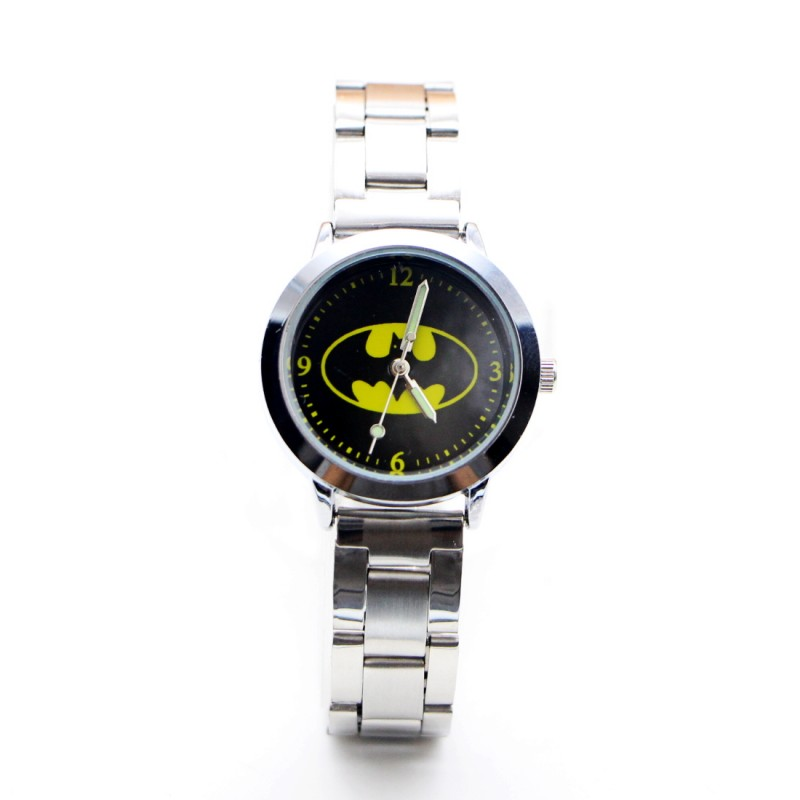 2019 New Cartoon Batman Desgin Kids Watch Girls Stainless Steel Fashion Ladies Women Watches Relojes Montres Kol Saati
