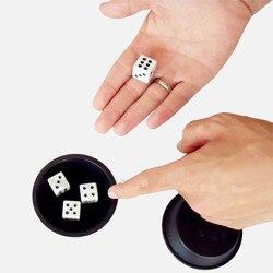 Super flying dice (truque) close-up truques de magia dados desaparecendo magie adereços gimmick comédia mentalismo fácil de fazer mágico