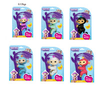 6pcs Set Fingerlings Interactive Baby Monkeys WowWee Smart Toys Colorful Finger Lings Smart Induction Toy For