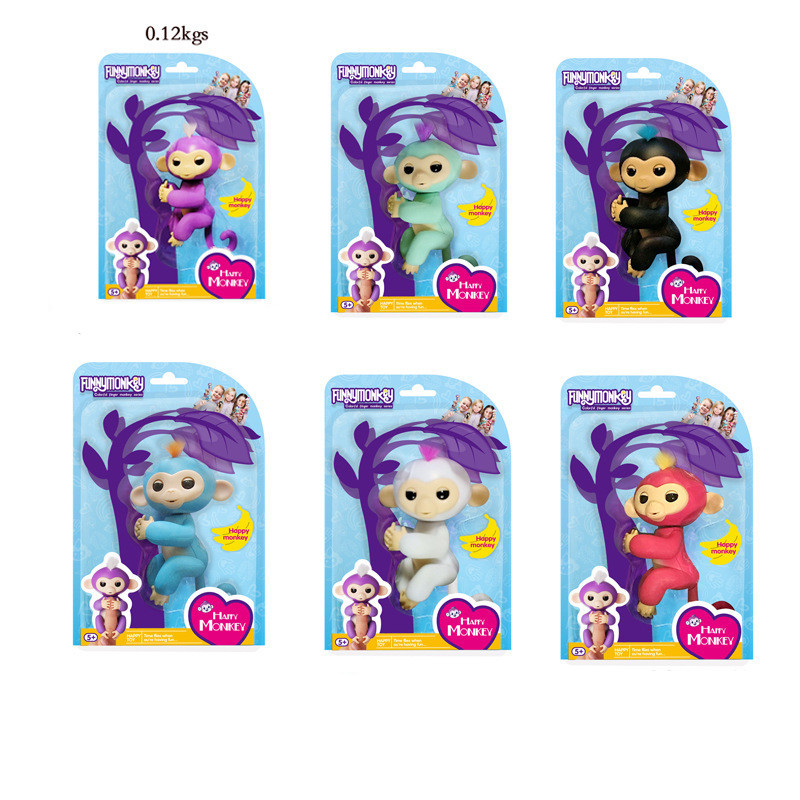6pcs/set Fingerlings Interactive Baby Monkeys WowWee Smart Toys Colorful Finger Lings Smart Induction Toy For Kid Christmas Gift 1 pcs electric vocal hamster toy nodding talking hamster toy sound record repeat stuffed animal baby interactive toys kid s gift