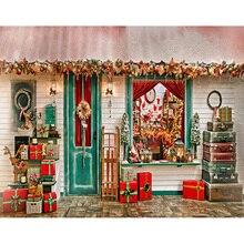 Индивидуальные Рождество дома обои фотографии фонов для фотостудия портрет стола реквизит S-2626