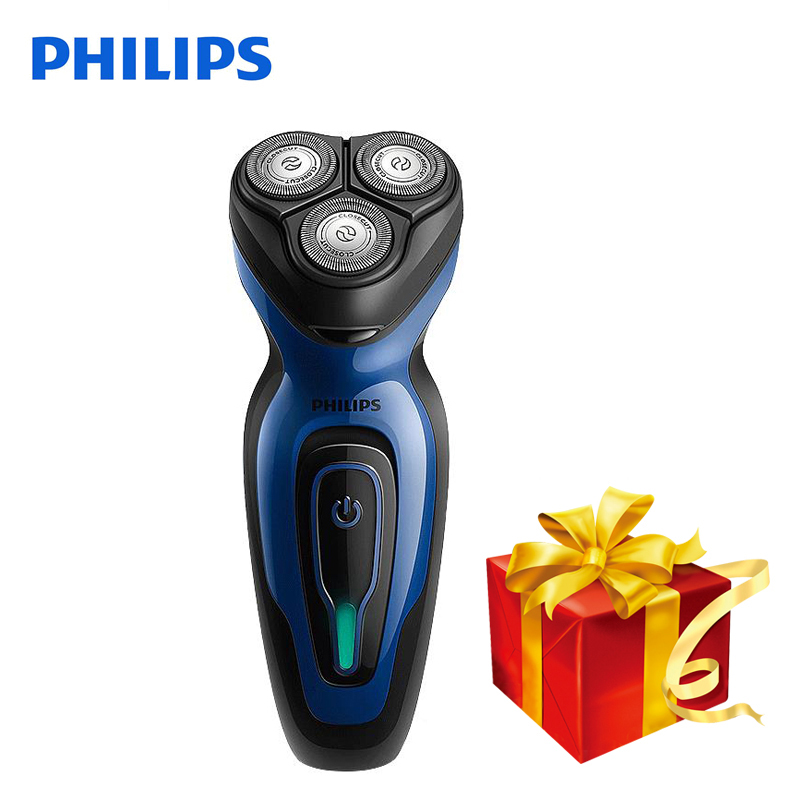Galleria fotografica <font><b>Philips</b></font> Electric Shaver YQ6008 Rotary Rechargeable Whole Body Wash 100-240V Triple Blade Face Beard Electric Razor For Men