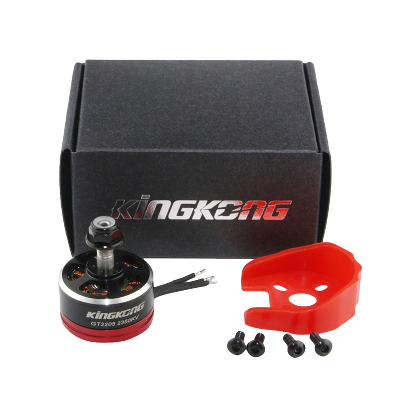 In Stock Kingkong 2205 GT2205 2350KV 2-4S Brushless Motor CW CCW With Motor Protector For X210 220 250 280 Frame Kit RC Drone lhi fpv 4x mt2206 2300kv cw ccw fpv brushless motor 2 4s 4 pcs racerstar rs20a lite 20a blheli s bb1 2 4s brushless esc