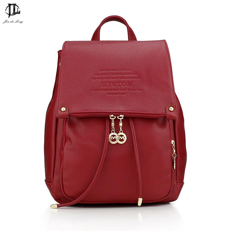Classic Style Litchi Grain Pu Leather Women s Travel Backpack Ladies Casual School Laptop Notebook Bag