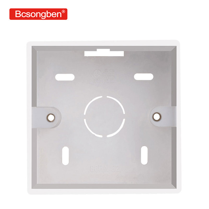 External mounting box 86mm * 86mm * 32mm, suitable for 86 standard switch and socket suitable for any position on the wall pc