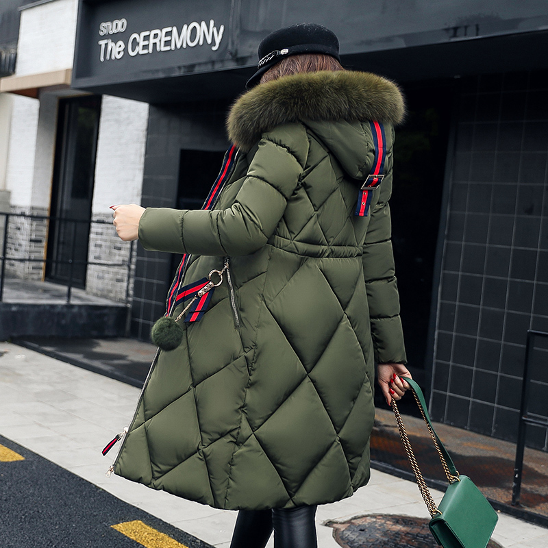 Ladies Winter Jacket Warm Women Duck Down Jacket for Women Coat Parka Plus Size Thick Fur Hooded Long Female Jacket Casaco Femin 2016 black big plus size korea fashion female outwear thick warm parka oversize fur duck down winter coat women retro with hood